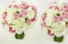Różowy bukiet ślubny z jaskrów azjatyckich i eustomy {Kwiatowe Atelier}