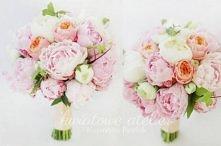 Różowy bukiet ślubny z piwonii {Kwiatowe Atelier}
