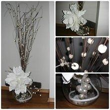 stroik z patyków i kwiatu
