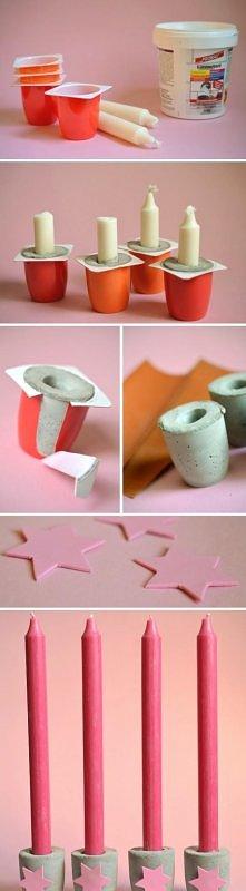 diy, diy projects, diy craft, handmade, diy ideas, diy concrete casting candl...