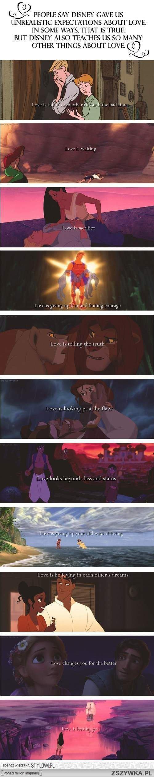 Miłość W Bajkach Disneya 3 Na Cytaty Zszywkapl