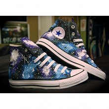 Blue and Purple Galaxy Converse High Tops