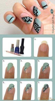 Koronka na paznokciach - krok po kroku :)
