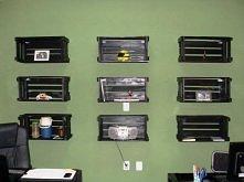 Szafki na ściane np. do biura z palet :) Co można zrobić z palet? Wbijajcie p...