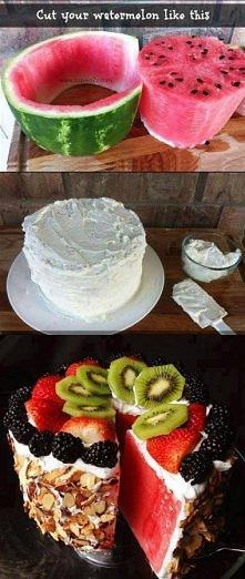 Zdrowe ciasto arbuzowe. Mniam!
