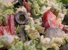 Sałatka warzywa, ogórek oliwki papryka.. Składniki:      4 małe ogórki konser...
