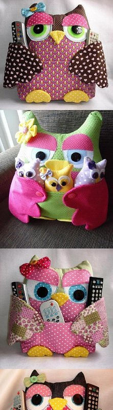 diy, owl, pad, pockets, doll