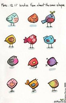 kolorowe ptaszki ;)