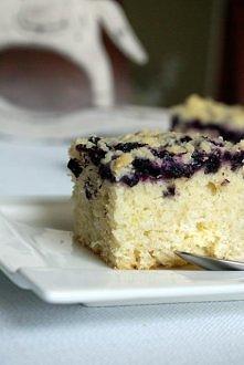 Ciasto maślankowe z jagodam...