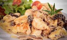Kurczak w śmietanie z pieczarkami