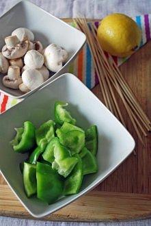 Grillowane szaszłyki w sosie słodko - ostrym