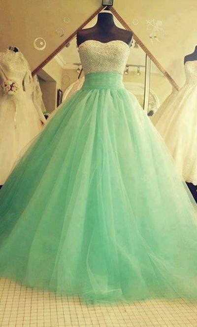 miętowa suknia ślubna <3