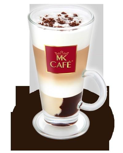 """Montowa kawa Składniki: - 30 ml espresso lub mocnej kawy (np. mokka) - 1 deser czekoladowy """"Monte"""" - 200 ml mleka - czekolada gorzka z dodatkiem skórki pomarańczy Przygotowanie: Na dno wysokiej szklanki włożyć cały deser, wlać wcześniej podgrzane i spienione mleko a następnie kawę. Całość posypać startą czekoladą."""