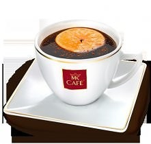 Kawa Grzaniec z mandarynką  Składniki: - 150 ml mocnej kawy - laska cynamonu - 40 ml koniaku - 2 goździki - mandarynka  Przygotowanie: Mandarynkę sparzyć, a następnie przepołowi...