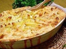 Fińskie ziemniaki zapiekane z cebulą i śmietanką  1,3 kg ziemniaków 3 cebule ...