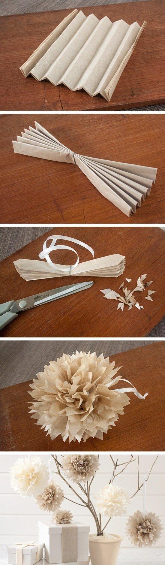 papierowy pompon