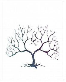 księga gości drzewko - szablon