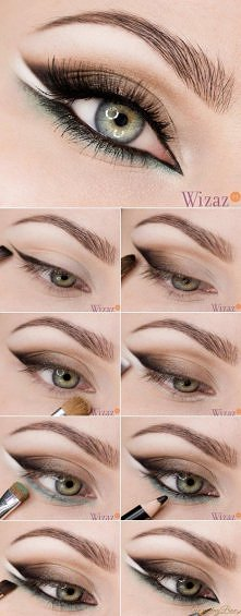 kolejny makijaż typu jaskółcze oko