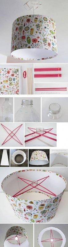 diy, simple, paper, creative, lampshade