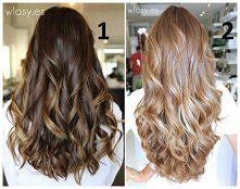 Bardzo subtelne ombre na lokach... która fryzura lepsza? 1 czy 2?
