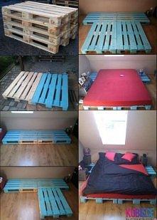 Sypialnia z palet.