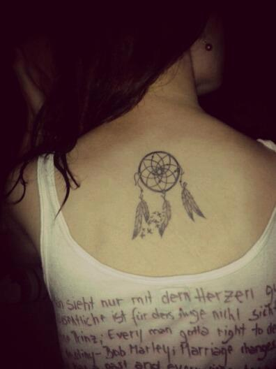łapacz snów tatuaż