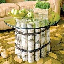 stolik z brzozy