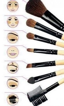 Małą wskazówka dla początkujących w sprawach makijażu, takie pędzle to bardzo...