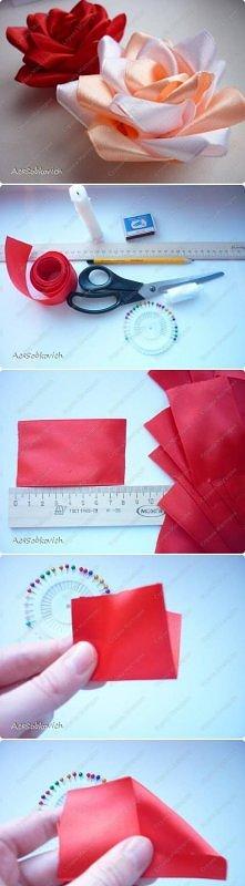 diy, ribbon, rose, kanzashi