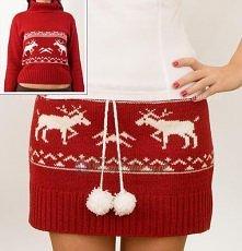 spódniczka ze swetra