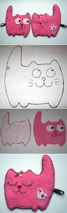 diy, fabric, cat, couple