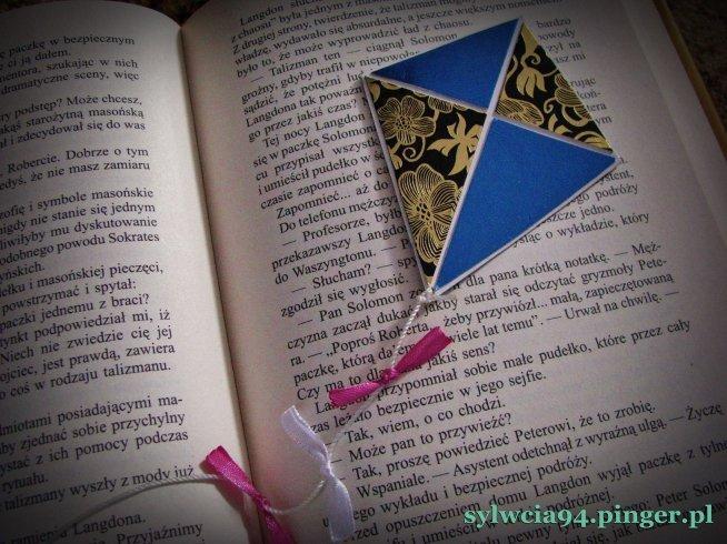zakładka do książki latawiec ... zapraszam na bloga ;)