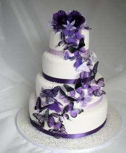 tort z motylkami