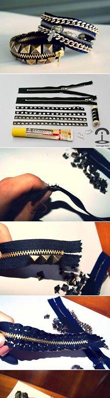 diy, stylish, studded, bracelet, stud