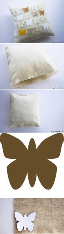 Motylki na poduszce.Z szabl...