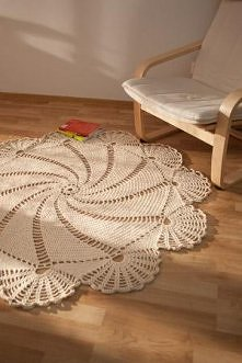 szydełkowy dywanik