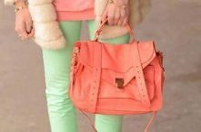 Orange and green . YES ♥