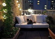 świetnie oświetlony balkon ;d