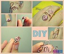pierścionek z drutu