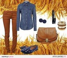 Brąz i jeans