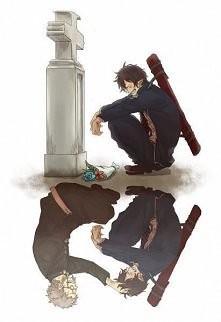 Smutek po starcie kogoś bliskiego ;( Anime: Ano no exorcist