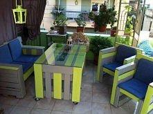 zestaw ogrodowy z palet