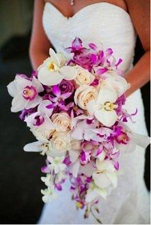 Stylowy bukiet ślubny