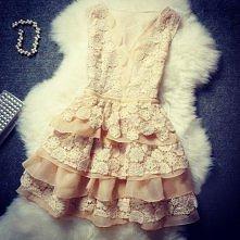 sukienka - pastelowa koronka