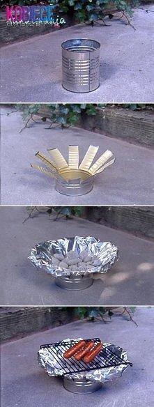 Jednorazowy grill.