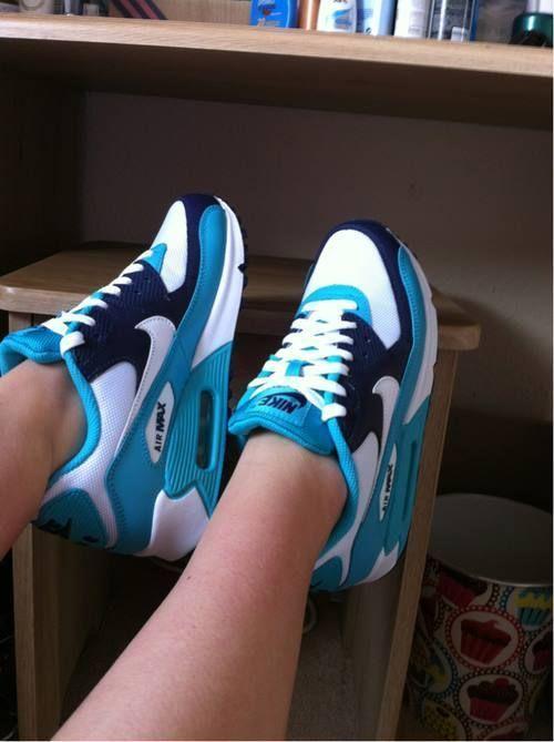 air max 1 niebiesko białe