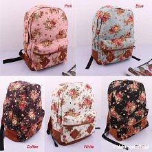Kwiatowe plecaki <3 Hej-ho, hej-ho, do szkoły by się szło ;)