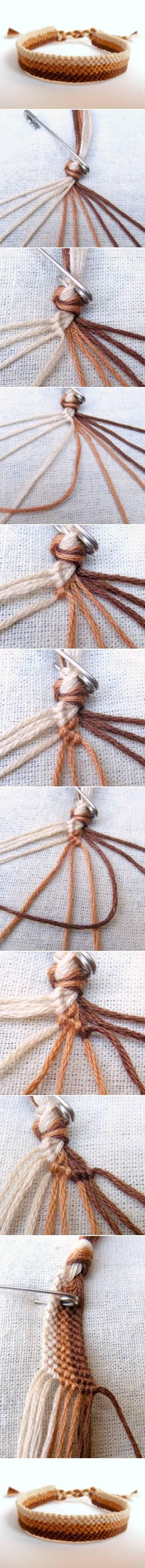 diy, weave, bracelet, tutorial, easy