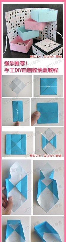 pudełko, a w tym pudełku następne pudełka:) origami