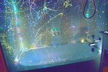 zasłona prysznicowa poplami...